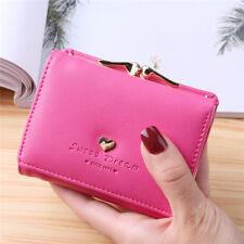 Korea Style Women Mini Wallet Multifunctional 5 Colors Solid Color Coin Purse BT