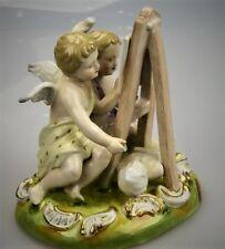 Porzellanfigur Kinder Malende Engel Porzellan malen Bilder Staffelei