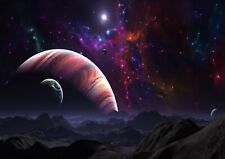 Planets and Universe Space Photo A4 Poster Print ONLY Wall Art