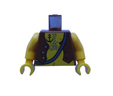 Lego Torso AMARILLO pirata marrón (marrón rojizo) Chaleco Ancla Tatuaje