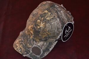 NWT Team Realtree  Hat Cap Green Brown Hunting Hunter Adjustable One Size