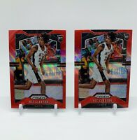 Lot of 2 2019-20 Prizm Nic Claxton Red/Ruby Wave Prizm Rookie Cards #292
