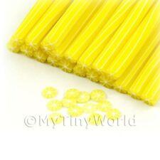 3x fatto a mano senza pelle Lemon CANNE - NAIL ART (11nc63)