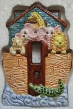 Noah's Ark Ceramic Switch Plate C.R. Gibson Welcome Aboard Rieva Lipsey Box New