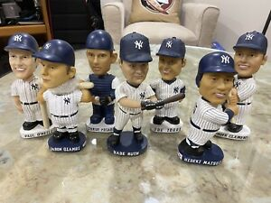 7 NY YANKEES LIMITED EDITION COLLECTIBLE BOBBLEHEAD COLLECTION SGA early 2000's