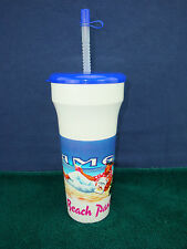 Vintage 91 JOE CAMEL 32 oz Beach Party Plastic Cup with Lid & Straw NEW/MINT