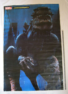 VINTAGE UK Godzilla Poster (1998) US Bus-Stop Size 3D/2D Double-sided GC ROLLED