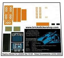 Precut Custom Replacement Stickers voor Lego Set 10129 - Rebel Snowspeeder (UCS)