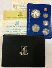 New listing 1976 British Virgin Islands 6-pc Proof Set w/ box & papers (has silver $1) #nk