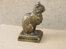 RARE ANTIQUE Art Deco bronze Statue / Figure CAT 1920s