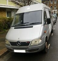 Mercedes-Benz Sprinter 311 cdi MWB HighTop Van ideal for touring, camping, bands