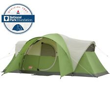 Coleman Montana 8-Person Tent Green Camping Hunting Fishing Solid Hinged Door