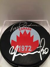 PAUL HENDERSON TRETIAK Team Canada 72 AUTOGRAPHED Signed NHL Hockey Puck w/ COA