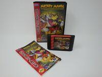 Mickey Mania Timeless Adventures - Sega Genesis CIB Complete in Box w/ Manual