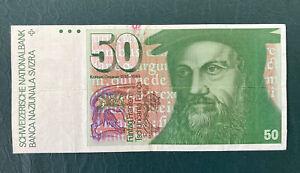 Switzerland. 1 x 50 Swiss Franc Banknote.