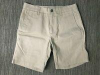 Bonobos Adult Mens 29 Chino Shorts 9 Inch Inseam Beige Cotton
