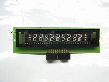 Display VFD FUTABA 11-MT-61ZLA 1 LINEA  9 CARATTERI 7 SEGMENTI