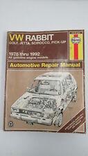 VW Rabbit, Golf, Jetta Scirocco, Pick-up 1975 to 1992 Haynes Manual 96016 (884)