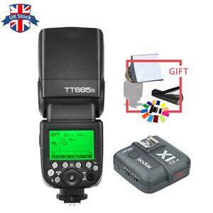 Godox TT685N 2.4G 1/8000s TTL GN60 Flash + X1T-N Transmitter Kit For Nikon+gift