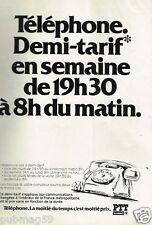 Publicité advertising 1982 Téléphone PTT