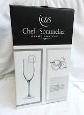 Flûtes à champagne-Chef et Sommelier Grand Chateau-boîte de quatre-Entièrement NEUF dans sa boîte