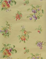 YORK FRUITS & FLOWERS ON YELLOW wallpaper Double Roll