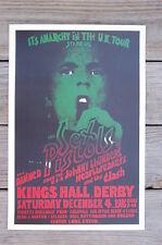 The Sex Pistols Tour Poster 1976 Kings Hall Derby U.K. Tour