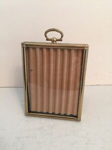 """Vintage Convex Glass Picture Frame - 4 3/8"""" x 3 3/8"""""""