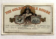 Vintage Advertising Trade Card The Golden Rule House Columbus Ohio