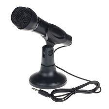 Pour PC de bureau 3.5mm Net Chatter KTV Discours Microphone Pied Micro Support