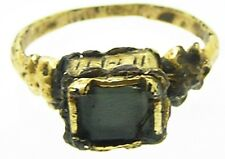 Superba Tudor Oro Dorato Dito Anello C. 1520 - 1580 D.C. Diamond PASTA Taglia 7