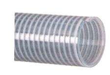 "Clear PVC Water Suction Hose Assembly 1"" X 20' - Unplated Steel M-NPT Fittings"
