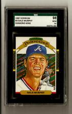 Dale Murphy 1987 Donruss Diamond King #3 SGC Gem Mint 10 POP:1 Atlanta Braves