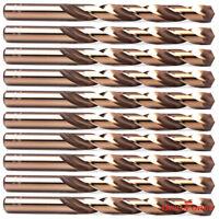 "10PCS 5/16"" Cobalt Drill Bit Set M35 HSS Jobber Length Twist Drill Bits Tools"