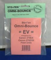 StoFen Omni-Bounce EV Diffuser fits  Canon 270EXII Flash Units+Cleaning Cloth*