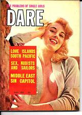 DARE PINUP MAGAZINE MAY 1959 BULLFIGHTING DIANE WEBER MINSKY BURLESQUE NICE!