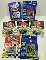 Lot of 7 NEW NASCAR Die Cast Cars w/ Card & Stand Vintage Earnhardt Petty Martin