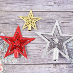 Christmas Tree Topper Star Decoration Xmas Tree Top Ornament Five-Pointed Star
