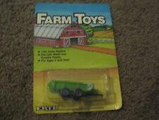 VINTAGE ERTL FARM TOYS GREEN AND WHITE MANURE SPREADER 1/64 1986 NEW IN PACKAGE