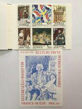 Carnet timbres neuf** Suède. YT SE C1794 Relations culturelles France-Suède 1994