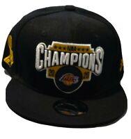 Men's Los Angeles Lakers  Black 2020 NBA Finals Champions Adjustable Hat