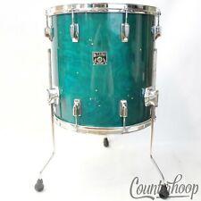 "*Tama 16x16""Aquamarine Superstar Vintage 80s Floor Tom Drum Made In Japan Birch*"