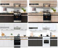 Küche 240cm Schränke, Küchenzeile erweiterbar - Fronten auswählbar Neu&Schnell