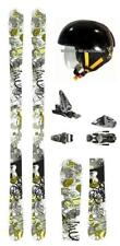 $900 Line Invader Skis +Look Bindings Twin Tip+ Helmet L-XL Package rski31 178cm