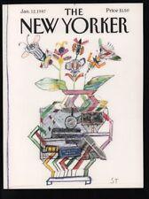 New Yorker magazine COVER ONLY  January 12 1987 Steinberg art-Great for framing