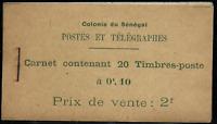SENEGAL - Colonie Fr - CARNET - COMPLET- N°.6**- Maury.C/200.eu - TB/MNH - RARE