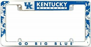 Kentucky Wildcats All Over Chrome Frame Metal License Plate Cover University of