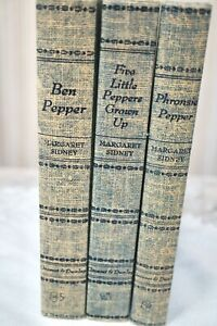 Set of 3 Pepper Books! Ben Pepper,Phronsie Pepper&Five Little Peppers Grown Up!