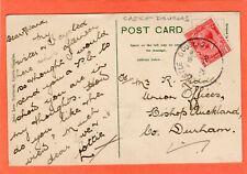 More details for castle douglas temporary skeleton postmark 1920 lovers walk  pc af602