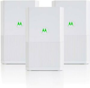 Motorola Whole Home Mesh WiFi System, AC2200 Tri-Band Mesh WiFi 3-Pack, up to...